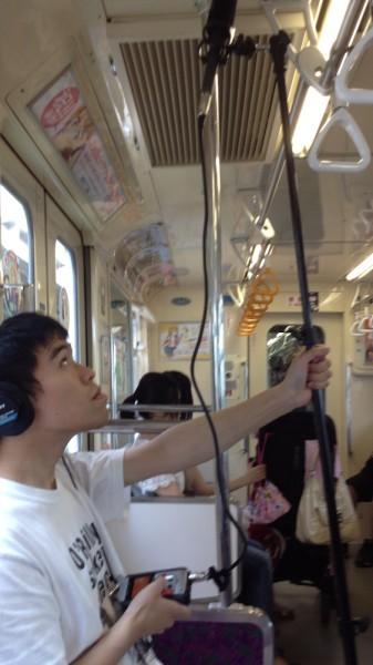 Gut ausgestattet: Otaku im Zug