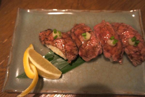 Spezialität: Rindfleisch-Sushi
