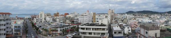 Panorama des Hauptortes von Ishigaki