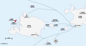 Lage der Insel (rot)