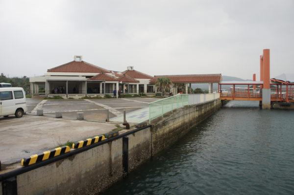 Hafen von Ōhara im Südosten der Insel