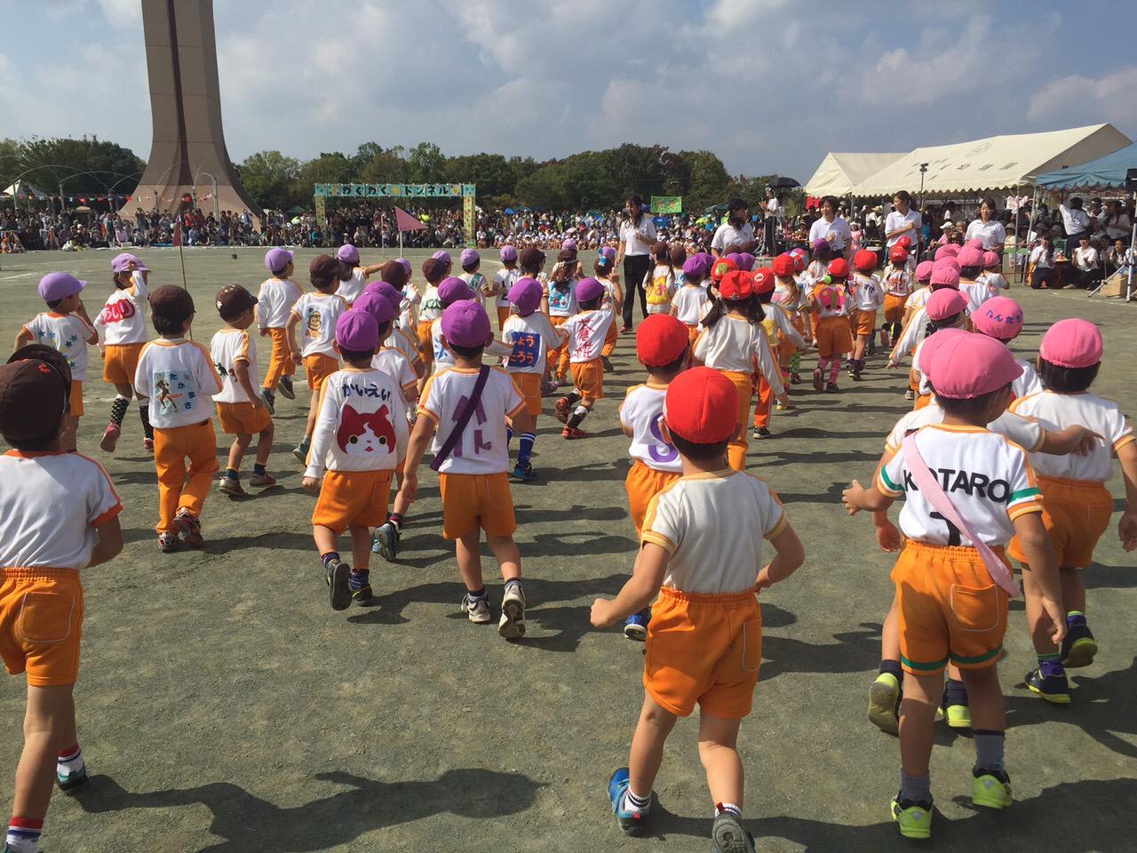 Beim Sportfest im Kindergarten