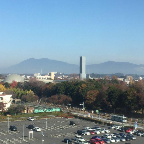 Wahrzeichen der Stadt - der nahe Mt. Tsukuba