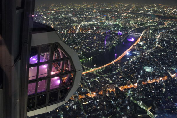 Aussicht vom Tokyo Sky Tree in der Nacht