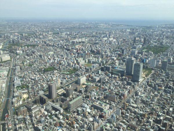 Blick vom Turm am hellichten Tag