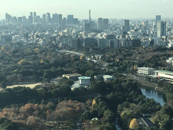 Westteil des Kaiserpalastes, dahinter: Shinjuku