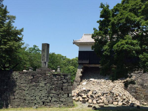 Schwere Schäden an der Burg nach dem Erdbeben von 2016