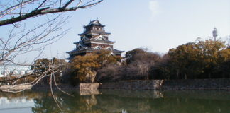 Gesamtansicht von Hiroshima-jō, der Burg von Hiroshima