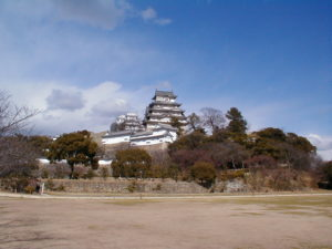 Gesamtansicht von Himeji-jō, der Burg von Himeji