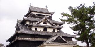 Der Donjon des Matsue-jō, der Burg von Matsue