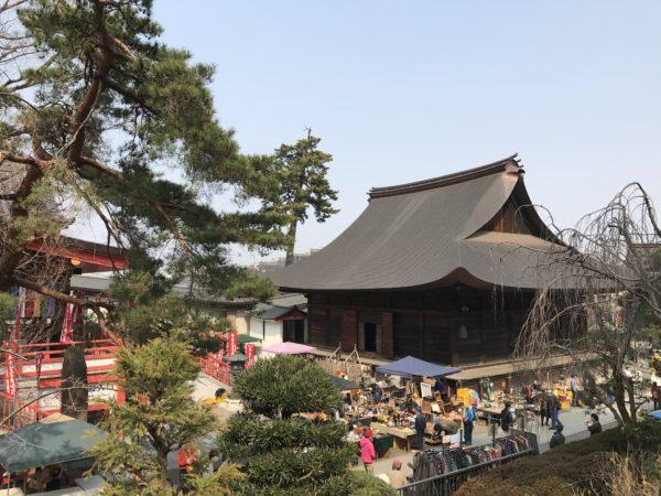 Die Fudōdō-Halle mit ihrem äußerst markanten Dach