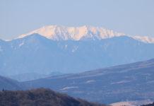 Akaishi-dake, von Hakone aus gesehen