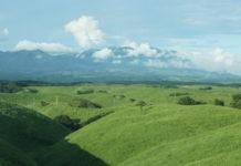 Blick von Aso zum Kuju-Massiv