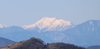 Hijiri-dake im Januar, von Hakone aus gesehen