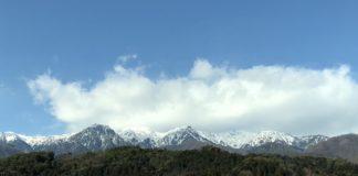 Das Kiso-Komagatake-Massiv im Dezember