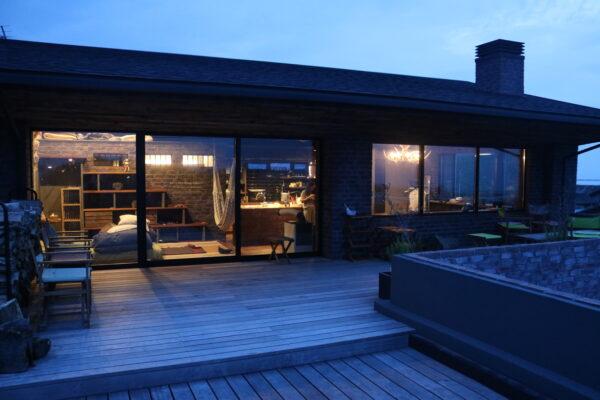 Blick von der Terrasse auf die 2. Etage