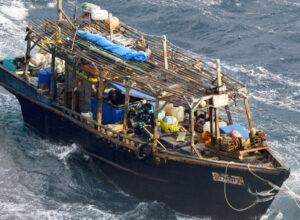 Nordkoreanisches Boot in Japan. Quelle: Mainichi Shimbun