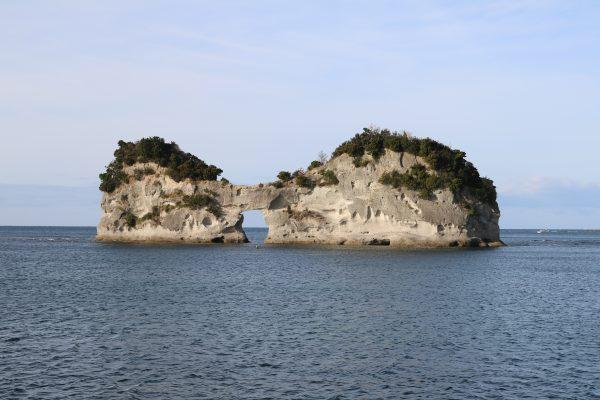 Die markante Engetsu-Insel bei Shirahama