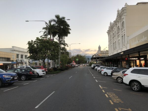 Im Stadtzentrum von Cairns