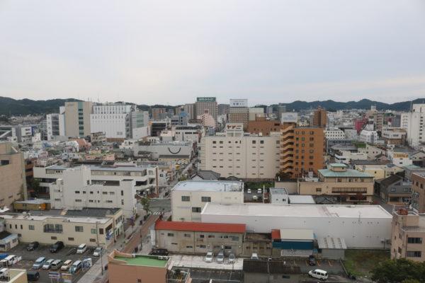 Blick auf das Stadtzentrum von Iwaki