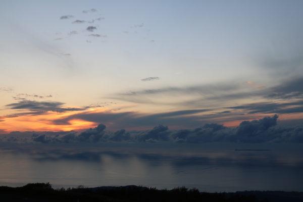Blick vom Chokaisan Richtung Insel Tobishima