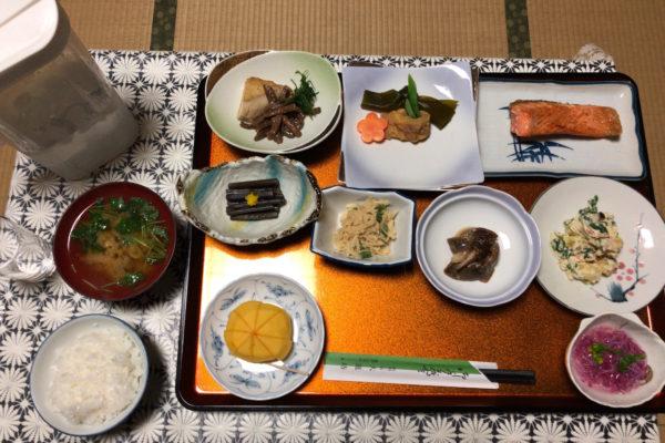 Buddhistisches Menü (mit Fisch, wohlgemerkt)