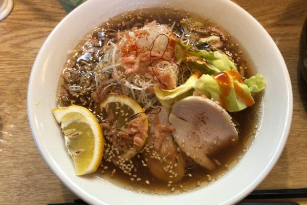 Mendokoro Azuki in Hachioji: Ramen mit Shrimps