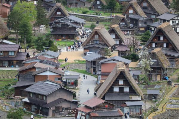 Das Zentrum von Ogimachi heute