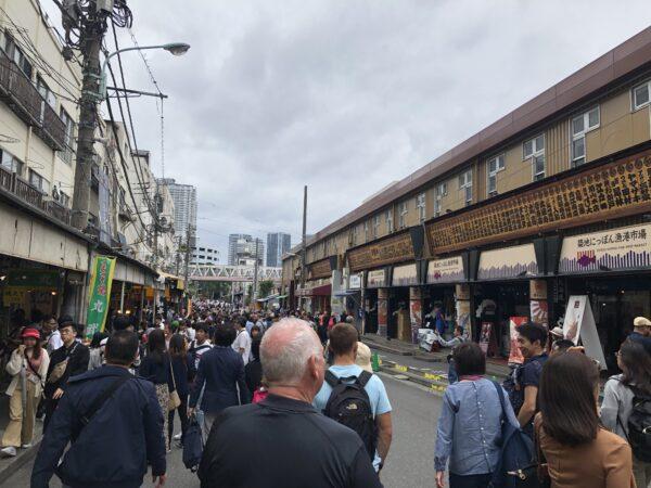 Besucherhorden in Tsukiji