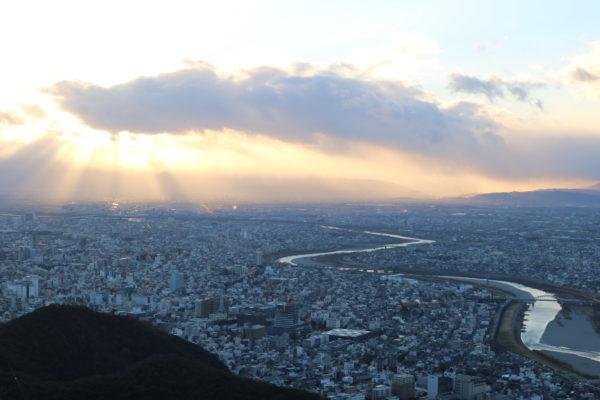 Blick auf das Stadtzentrum von Gifu
