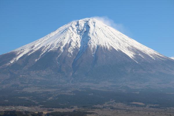 Blick vom Westen auf den Fuji-san