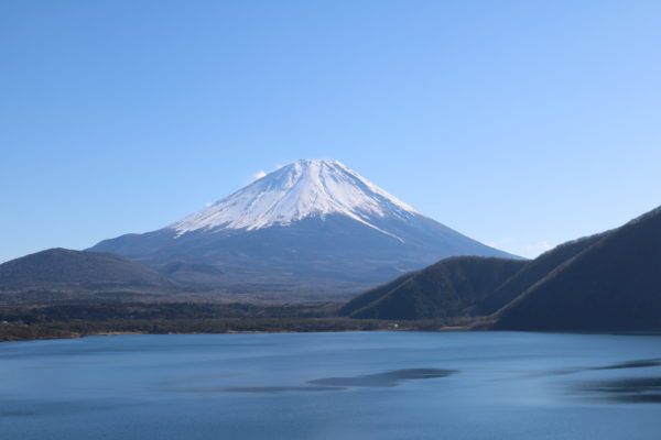 Blick vom Motosu-ku auf den Fuji