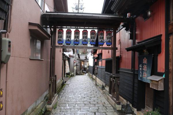 Eine der vielen Gassen in Honmachi, der Altstadt von Hachiman