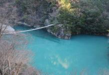 Die Hängebrücke in der Sumata-Schlucht