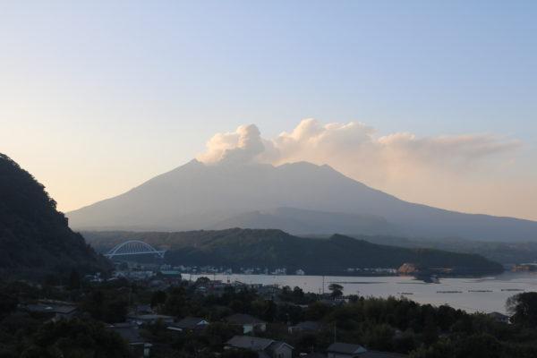 Der Sakurajima vom Osten aus gesehen