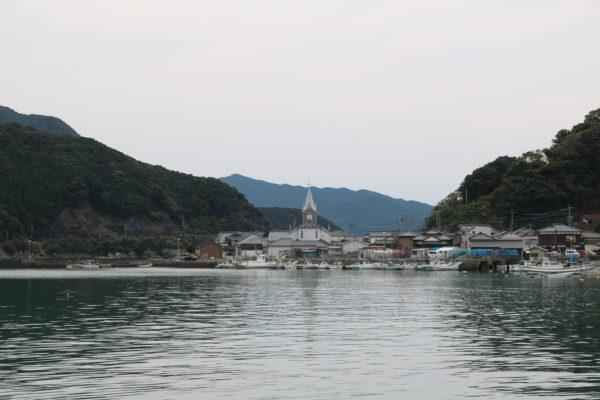 Bucht von Sakitsu nebst Kirche