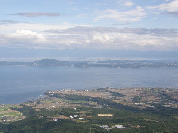 Blick vom Unzen-Vulkan (Nagasaki) auf die Amakusa-Inseln
