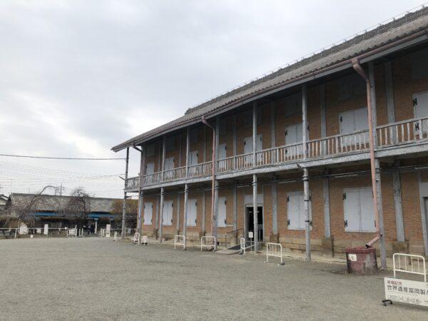 Das westliche Lagerhaus - hier wurden die Seidenraupen gelagert
