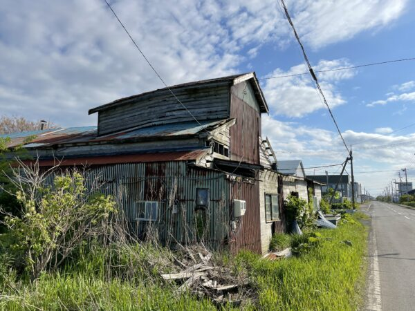 Zerfall allerortens - leider keine Seltenheit in Nemuro Stadt