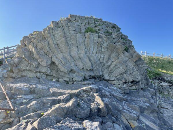 Der Radstein südlich von Nemuro