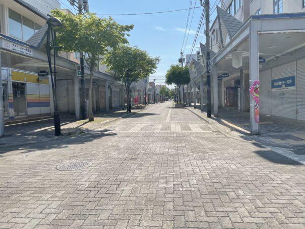 Wie ausgestorben: Das Zentrum von Abashiri, an einem Dienstag nachmittag.