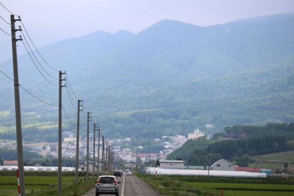 Typische Landstrasse auf Hokkaido