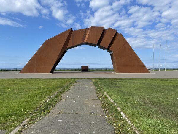 Denkmal am Kap Nosappu auf der Nemuro-Halbinsel