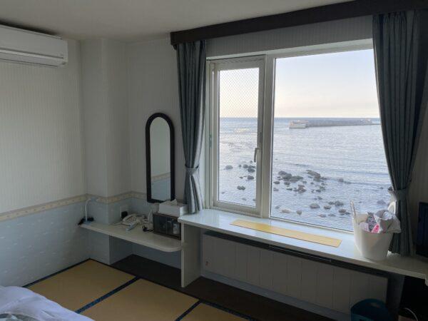 Zimmer mit Meerblick im Iruka-Hotel in Utoro, Shiretoko