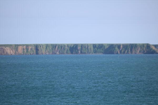 Die heute unbewohnte Yurui-Insel südlich von Nemuro