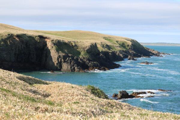 ...und eine rauhe Küste prägen die Halbinsel Nemuro