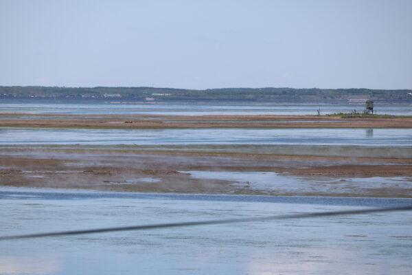 Dampfende Salzmarsch in der Notsuke-Bucht