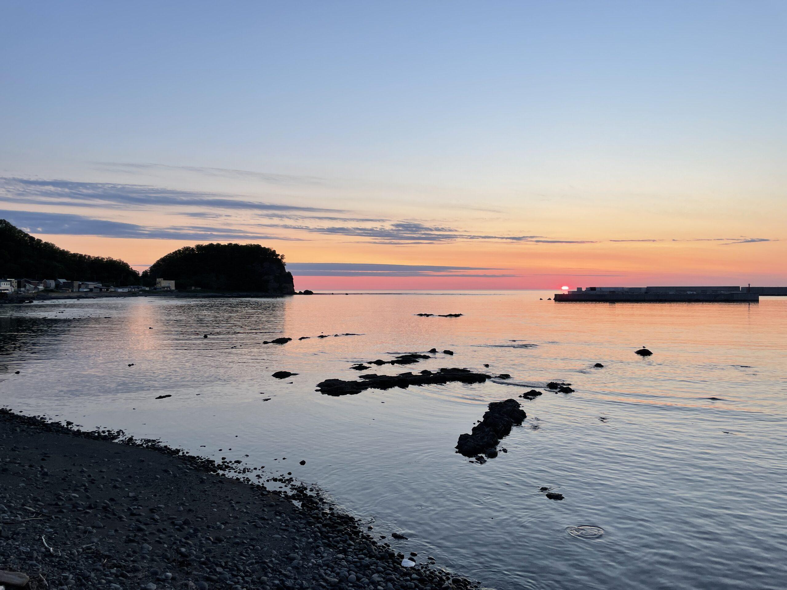 Sonnenuntergang an der Bucht von Utoro