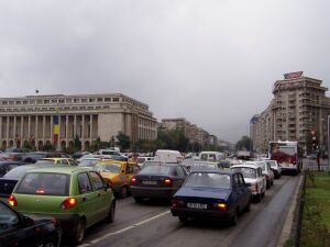 Verkehrskollaps in Bukarest